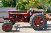 Tractor at Indian Creek Winery, site of the Hermit Music Festival